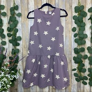 GAP Kids Purple Star Drop-Waist Dress
